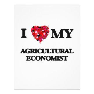 I love my Agricultural Economist 21.5 Cm X 28 Cm Flyer
