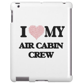 I love my Air Cabin Crew (Heart Made from Words) iPad Case
