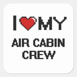 I love my Air Cabin Crew Square Sticker