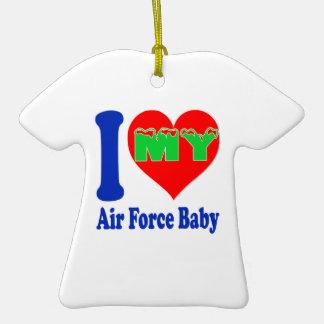 I love my Air Force Baby Ceramic T-Shirt Decoration