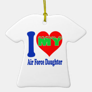 I love my Air Force Daughter Double-Sided T-Shirt Ceramic Christmas Ornament