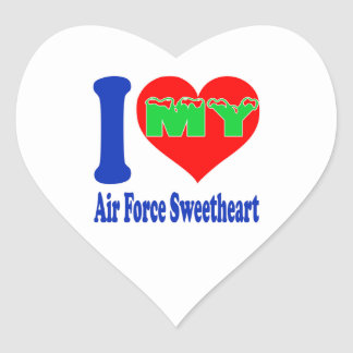 I love my Air Force Sweetheart. Heart Sticker