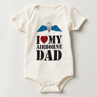 I LOVE MY AIRBORNE DAD BABY BODYSUIT