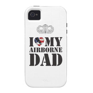 I LOVE MY AIRBORNE DAD VIBE iPhone 4 CASE