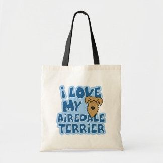 I Love My Airedale Terrier Bag