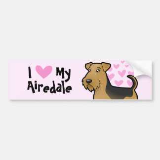 I Love My Airedale Terrier / Welsh Terrier Bumper Sticker