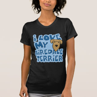 I Love My Airedale Terrier Women's Twofer Shirt