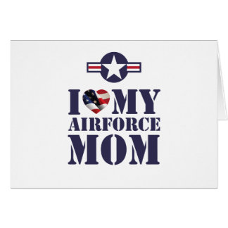 I LOVE MY AIRFORCE MOM CARDS
