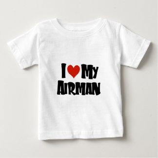 I love my Airman (Red) Baby T-Shirt