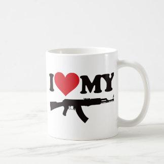 I Love My AK47 Basic White Mug