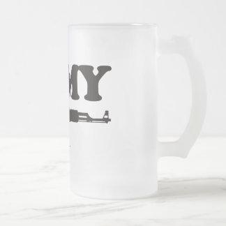 I Love My AK47 Frosted Glass Mug