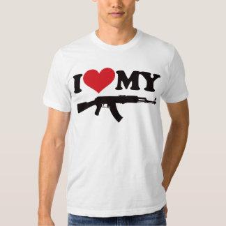 I Love My AK47 T Shirt