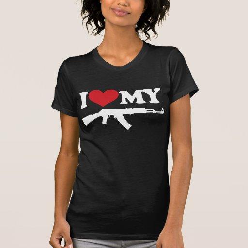 I Love My AK47 Shirt