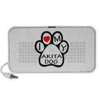 I Love My Akita Dog Speakers