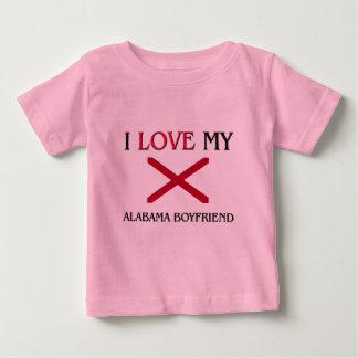 I Love My Alabama Boyfriend Baby T-Shirt