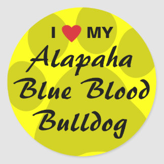 I Love My Alapaha Blue Blood Bulldog Classic Round Sticker
