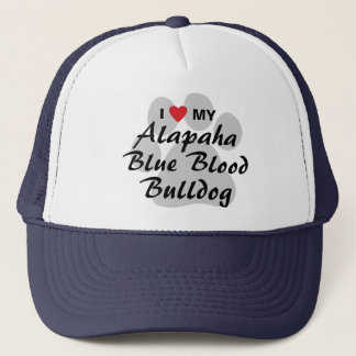 I Love My Alapaha Blue Blood Bulldog Trucker Hat