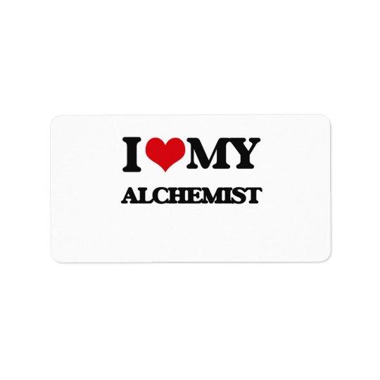I love my Alchemist Address Label