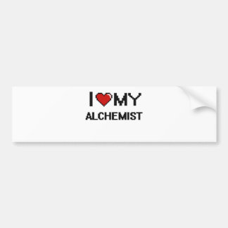I love my Alchemist Car Bumper Sticker