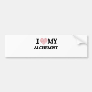 I love my Alchemist (Heart Made from Words) Bumper Sticker