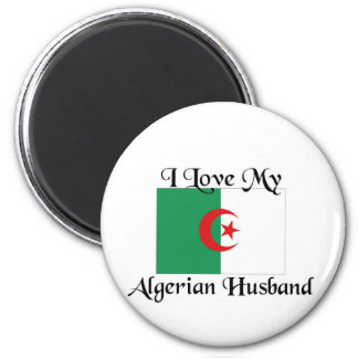 I love my algerian husband 6 cm round magnet