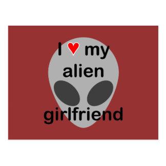 I love my alien girlfriend postcards