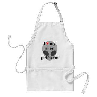 I love my alien girlfriend standard apron