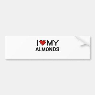 I Love My Almonds Digital design Bumper Sticker
