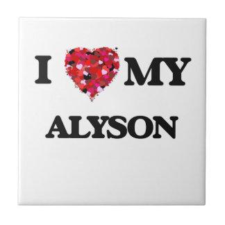 I love my Alyson Small Square Tile