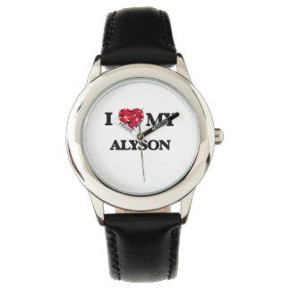 I love my Alyson Wristwatches