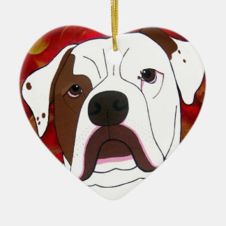 I Love My American Bull Dog Ornament