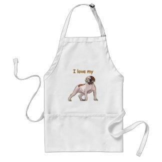 I Love My American Bulldog Standard Apron