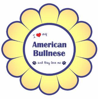 I Love My American Bullnese (Multiple Dogs) Photo Sculpture Decoration
