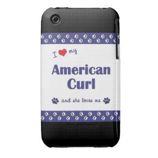 I Love My American Curl (Female Cat) Case-Mate iPhone 3 Cases
