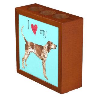I Love my American English Coonhound Desk Organiser