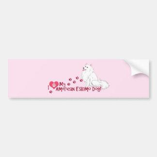 I Love My American Eskimo Dog! Car Bumper Sticker