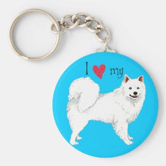 I Love my American Eskimo Dog Key Chains