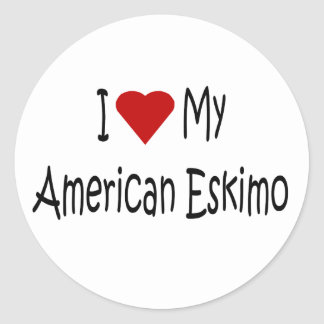 I Love My American Eskimo Dog Lover Gifts Stickers