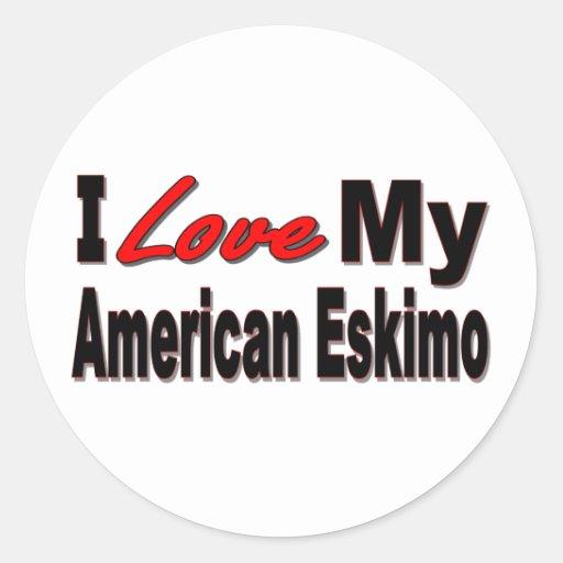 I Love My American Eskimo Dog Merchandise Sticker