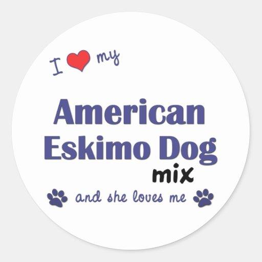 I Love My American Eskimo Dog Mix (Female Dog) Sticker