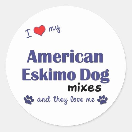 I Love My American Eskimo Dog Mixes (Multi Dogs) Sticker