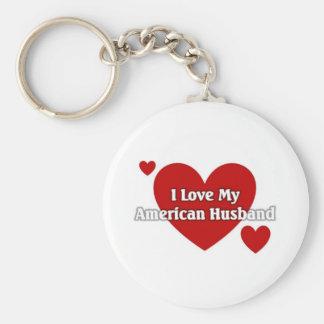 I love my American Husband Basic Round Button Key Ring