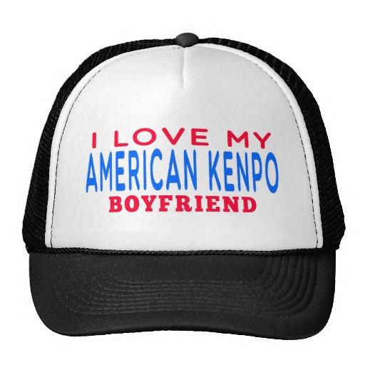 I Love My American Kenpo Boyfriend Mesh Hat