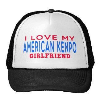 I Love My American Kenpo Girlfriend Trucker Hats