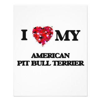 I love my American Pit Bull Terrier 11.5 Cm X 14 Cm Flyer