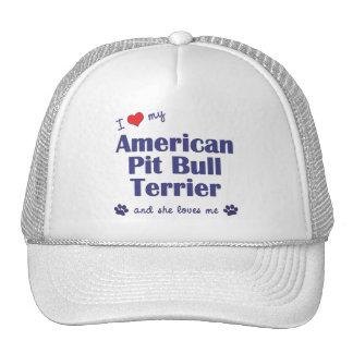 I Love My American Pit Bull Terrier (Female Dog) Mesh Hat
