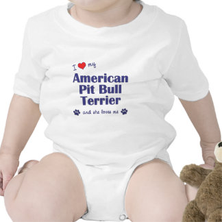 I Love My American Pit Bull Terrier (Female Dog) Romper