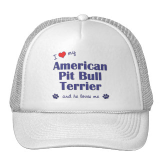 I Love My American Pit Bull Terrier (Male Dog) Trucker Hat
