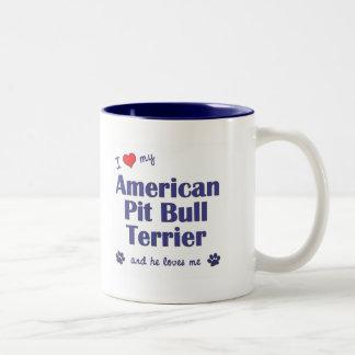 I Love My American Pit Bull Terrier (Male Dog) Mugs