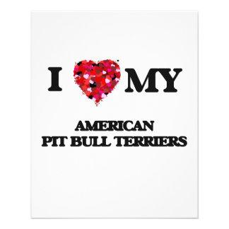 I love my American Pit Bull Terriers 11.5 Cm X 14 Cm Flyer